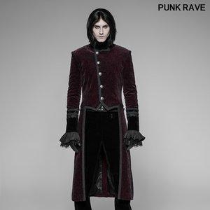 Retro kişilik kulüp Parti Yünlü kış uzun ceket Gotik Daimi Yaka Erkek Swallow frak PUNK RAVE WY-942LCM