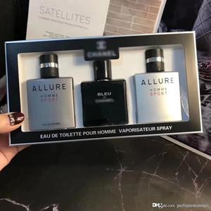 Sport Profumo 3 pezzi da uomo Set Bleu de Allure Homme Sport 25ML * 3 EDT Colonia di alta qualità Long Lasting profumo Sspray Classic Fragran