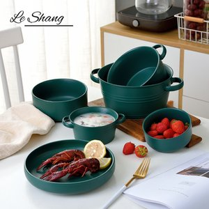 1PCS Simple China Salad Bowl Anti-hot Noodles Bowl Dessert Breakfast Oatmeal Crockery Household Tableware Ramen Bowl