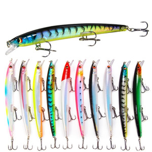10pcs Lot 13.5cm 15.4g Fishing Lure Hard Bait Artificial Lure Bass Bait Minnow Lures Sea Saltwater Fishing