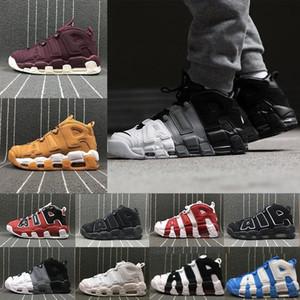 Zapatillas de deporte más reciente Pippen Deportes Casual más Uptempo Rojo Negro Oro para hombre de los zapatos de baloncesto de aire 3M Moda zapatilla de deporte escocés s EEUU 8-13