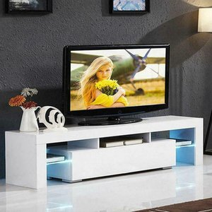 "51"" Holz Hochglanz LED TV-Ständer Entertainment Furniture Center Console Cabinet"
