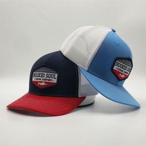 Cappello di estate ricamato Trucker Cap Cina Manifattura Ricamo Patch Trucker cappelli promozionali Mesh Hat Snapback di alta qualità