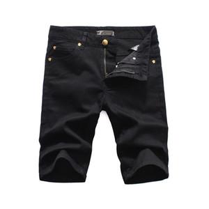 роскошные medusa new 2020 мужские джинсовые рваные шорты джинсы ночной клуб синий хлопок мода обтягивающие летние мужские брюки джинсы pour hommes