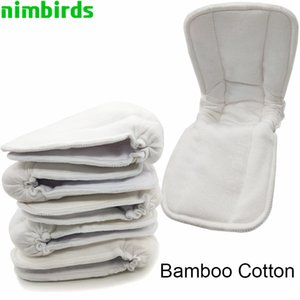 5 PCS Reusable Bamboo Cotton Insert Baby Charcoal Cloth Diaper Mat Nappy Inserts Changing Liners Diaper Cover Insert Wholesale
