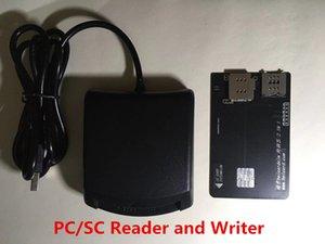 PC / SC USB سيم قارئ بطاقة والكاتب بطاقة قارئ بطاقة الذكية مع كابل USB لHicardsim 7 و أوهتير رقائق فتح سيم