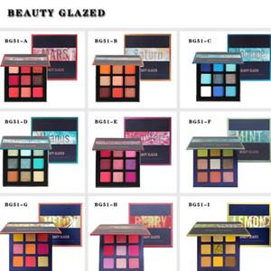9 cores da paleta da sombra da composição da beleza Presentes Shimmer presente Matte Sombra de olho Nu Sombra brilhante Smoky Pigment Glitter TSLM2