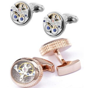 Vortex Cuff Link 24 colors punk movement Cufflinks man's cufflinks French button cufflinks for Father's Day Christmas present free SHIPPING