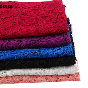 OECEM Embroidered polyester lace clothing fabric milk silk material water soluble lace cloth embroidery 125*50CM OLS002