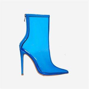 Gorgeous2019 Boots Mulher Ano Transparente Super Alta Fina Com Sapatos Femininos Fund Fundo