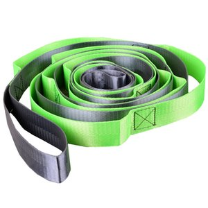 Nylon Multi 12 Loops Yoga Stretch Straps Fitness Tension Stretching Belt Ropes for Aerial Yoga Hammock Body