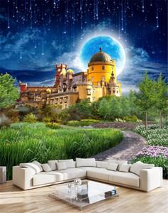 3d Home Wallpaper Dream Castle Beautiful Wonderland Scenery Sala de estar Dormitorio Fondo Decoración de pared Mural Wallpaper