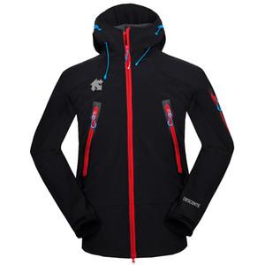 Los hombres desconte softshell chaqueta cara de la cara hombres al aire libre abrigos deportivos hombres ski senderismo a prueba de viento Outwear Outwear Soft Shell chaqueta