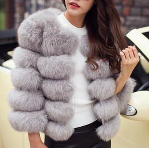 Хорошее качество нового способа Luxury Fox Fur Vest Женщины Короткая зима теплая куртка пальто Жилет Разнообразие цвета для выбора
