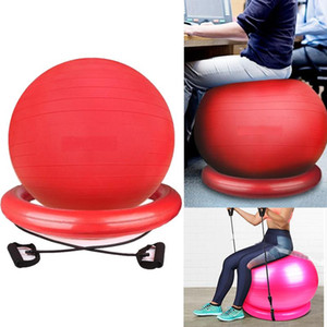 New Large Yoga Balls With Resistance Bands Bands 85Cm Sports Pilates Fitness Ball Balance Fitball Exercise Workout Massage Ball pVcvD