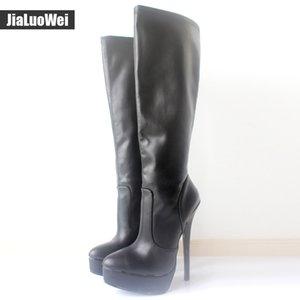 jialuowei Novas Mulheres Botas Outono Sapatos de Inverno Mulher 18cm / 7