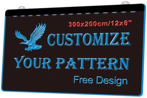 LS0000 300x200mm Custom Your Own Design Led Neon Sign 7 colors Multi color 3 Размеры Вкл / Выкл переключатель объемная скидка цена