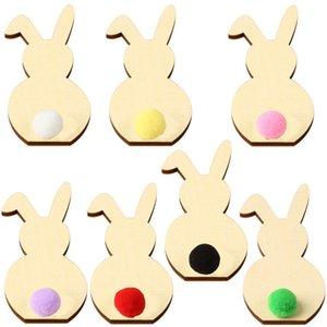 Easter Rabbit Ears Crafts Bunny decorazione domestica Ornamenti fai da te Coniglio Camera arti decorative per feste Artigianato regalo dei capretti LJJA3736