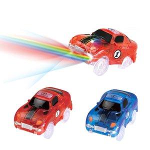 Волшебные треки LED Light Electronics Car Tracks Toy Parts 5 красочные огни детские игрушки для головоломки игрушки автомобиль подарки на День Рождения