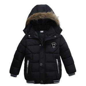 Moda bambini inverno del cappotto delle ragazze dei ragazzi spesso strato imbottito invernali giacca abbigliamento manteau fille hiver doudoune parka bambini