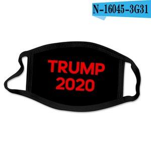 2020 Nueva Donald Trump lujo del diseñador reutilizables de tela de algodón lavable manera de la boca de la mascarilla EE.UU. Mujer Hombre Unisex 17 estilos en la acción DHL