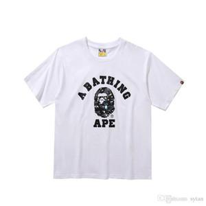 Atacado Novos Homens de Verão Solto Em Torno Do Pescoço Preto Branco Camisetas Homens Mulheres Casual Em Torno Do Pescoço Camisetas de Hip Hop