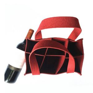Sentiu Bottle Box Wine Beer portador Handbag Organizer Bag Liner Tote dobrável