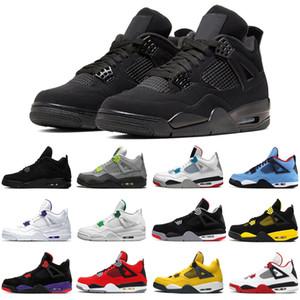 2020 néon 4 4s hommes femmes chaussures de basket-ball chat noir Cour athlétisme jack cactus pourpre des femmes des hommes formateurs taille de sport de 5,5 à 13