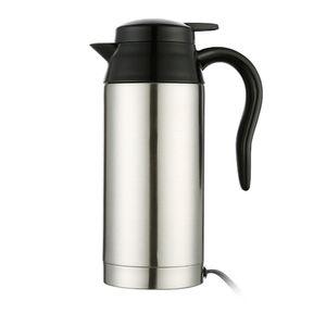 750 ml 12/24 V Para Café Leche Calentador de agua eléctrico del hogar Plata Coche Olla de acero inoxidable Taza de calefacción Caldera de viaje