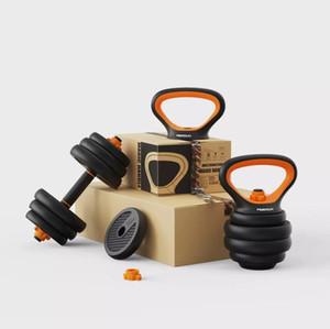 peso forma fisica regolabile manubri kettlebell 5-88lb / set (acciaio puro PE ferro non-puro) multi-purpose design originale manubri formazione 1w2a2
