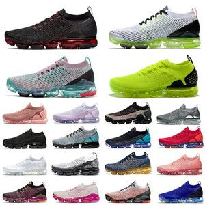 Nike Air Vapormax 2.0 Fly 3,0 Sports Running Shoes Volt South Beach matiz platina Dusty Cactus Almofada Designer Sneakers Mens Trainers Maxes tamanho 12