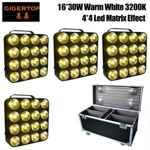 4em1 Flightcase embalagem 4XLOT 16 da cabeça LED Matrix Luz Branco Quente 16 * 30W COB Matrix Blinder Luz para o fundo, Estúdio Luz TP-M16 BRANCO