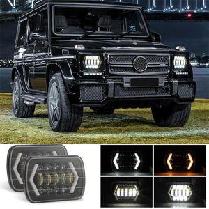 "Adeeing Car LED Headlights 4X6 5X7 "" 300W 30000LM SUV Car Working Lights White Amber Colors Aluminum Shell IP67 Waterproof Light"