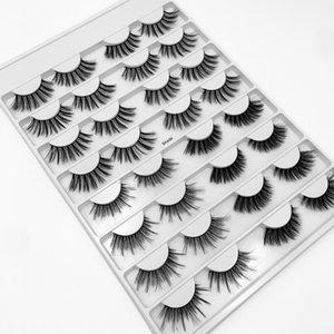 Handmade 16 pairs false eyelashes extensions set thick natural long mink fake lashes eye makeup accessory soft & vivid lash DHL Free