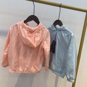 İlkbahar ve sonbahar Moda Marka Ceket Çocuk Güneş Koruyucu Giysi Tasarımcısı Çocuk Giyim Boys Kız Kapüşonlular Ceketler