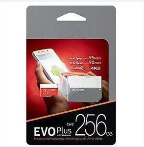 2019 베스트 셀러 블랙 EVO + U3 Class 10 256GB 64GB 32GB 128GB 플래시 TF 카드 메모리 카드 C10 어댑터 PRO PLUS Class 10 100mb / s