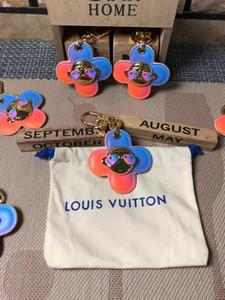 Lusso Vivienne capo Grasso Girasole portachiavi Designer catena Arcobaleno Jewelry Key chiave sacchetto dell'anello dell'automobile Keychain di fascino per le donne del regalo degli accessori