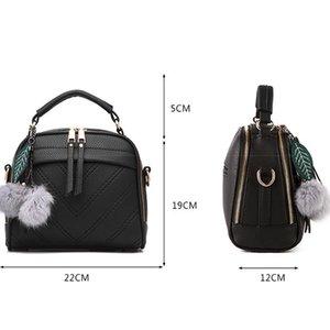 LANLOU 2019 fashion Hairball shoulder luxury handbags bags designerCasual crossbody bag for women MX200324