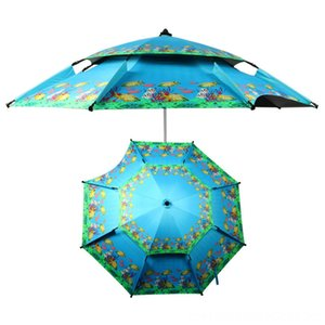 20 22 m 24 m Large Size Fishing Umbrella Foldable Double Layer Outdoor Rainproof Beach Hiking and Camping Camping & Hiking Tent AntiUV Sunsh