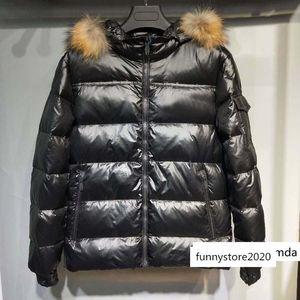Man Winter Coat Casual Thick Jacket Real Raccoon Fur Down Inside Hommes Manteau Best 835