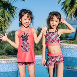 New 2020 Kids Little Girls Two-Piece Tankini Swimsuit Children's Split Swimsuit Swimming Suit Girls Kids Bathing Suit