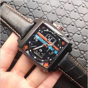 Marque de haute qualité mécanique automatique Montre Homme Luxe Montre Carrée Hommes en caoutchouc Montre sport célèbre Styliste montres mécaniques