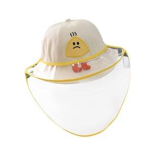 Bebê Máscara Hat Prevent Saliva respingo cobrir o rosto viseira Crianças Anti Poeira Peixe Cap Crianças Equipamento de Proteção
