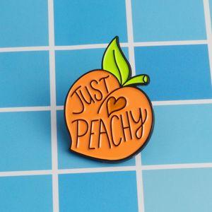 просто персиковый милый маленький смешной эмаль броши булавки для женщин Рождество Демин рубашка декор брошь булавка металл Каваи значок мода ювелирные изделия