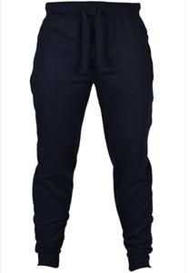 2019 pantalons de gymnastique chaud en velours de salade code européen pur couleur loisirs homme élastique