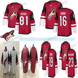 2019-2020 PHOENIX ARIZONA COYOTES Jersey 81 Phil Kessel 16 Max Domi Jersey 23 Oliver Ekman-Larsson Red White Blank Hockey Jerseys