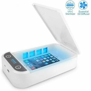 Teléfono celular de la luz UV portátil Móvil esterilizador UV Luz Limpiadores Sanitzier Caja aromaterapia Función de desinfección para joyería Cara Máscara