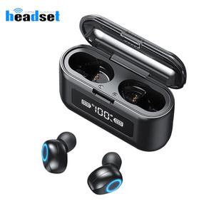 Touch Control Bluetooth Earphone LED Display Ear phone Wireless Headphones TWS W1 Earbuds Sports Stereo Bass Headset PK F9 TWS