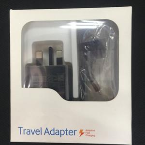 2 в 1 15W адаптивных 100% быстрая зарядка США / EU Travel зарядного устройство + 1,5Й Micro USB-кабель для Samsung S6 S7 Эджа Примечания-5 с коробкой