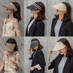 venta al por mayor Summer Straw Visor Cap Adult Bee Gorra Sun Beach Cap Hat para hombres mujeres Look familiar